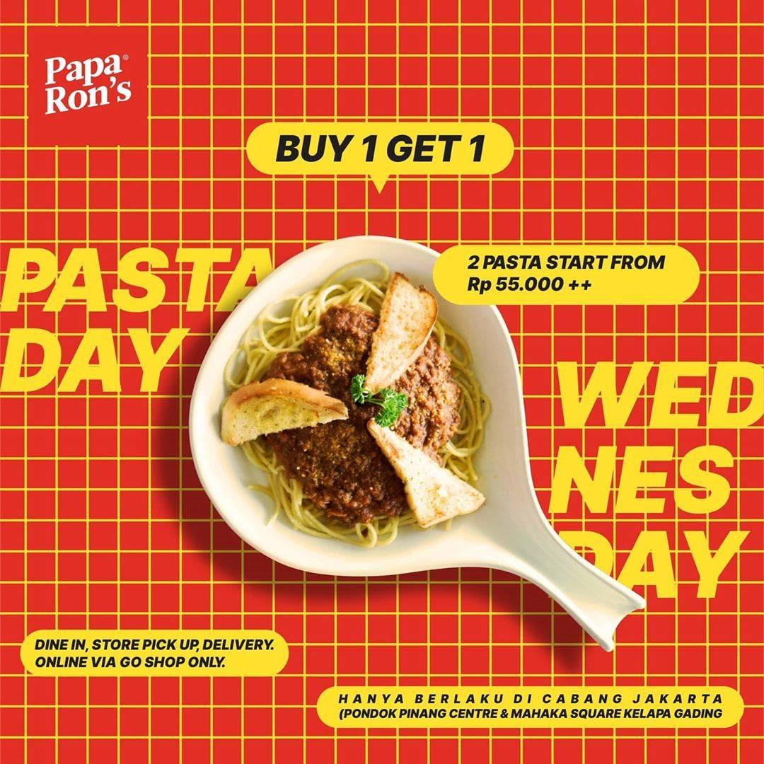 Diskon Papa Ron's Promo 2 Pasta Start From Rp 55.000+