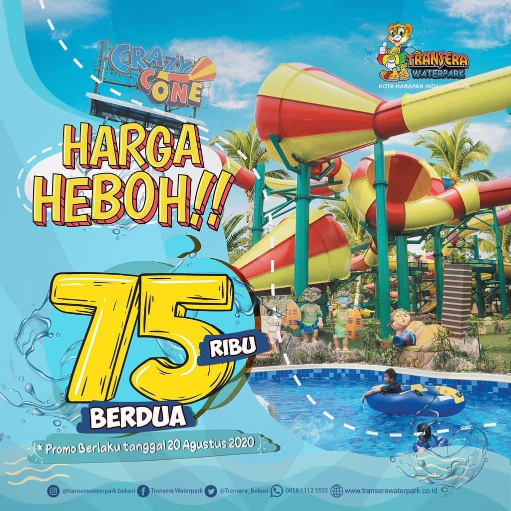 Diskon Promo Transera Waterpark Tiket Masuk Hanya Rp. 75.000/ 2 Orang