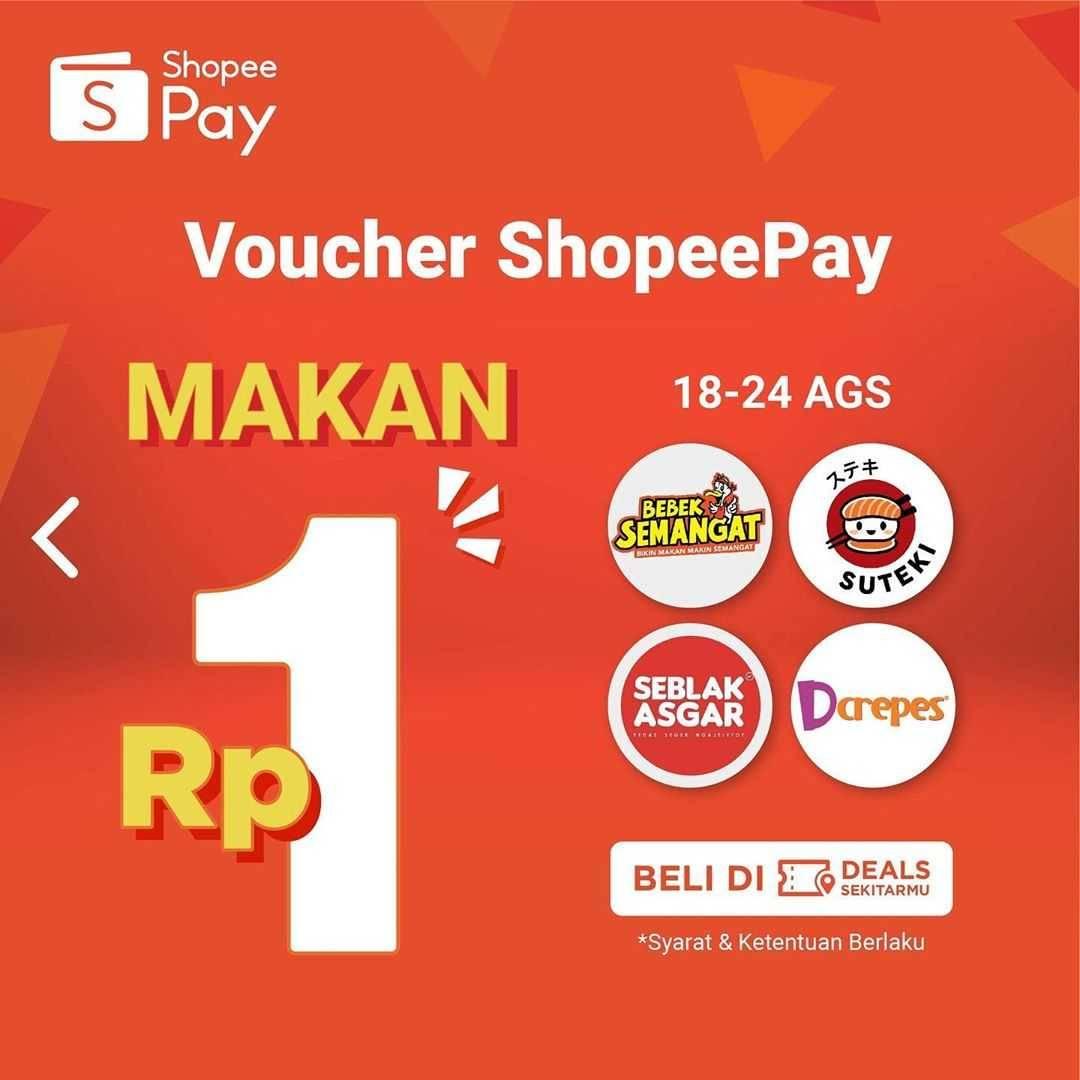 Shopeepay Voucher Makan Rp 1 Disqonin