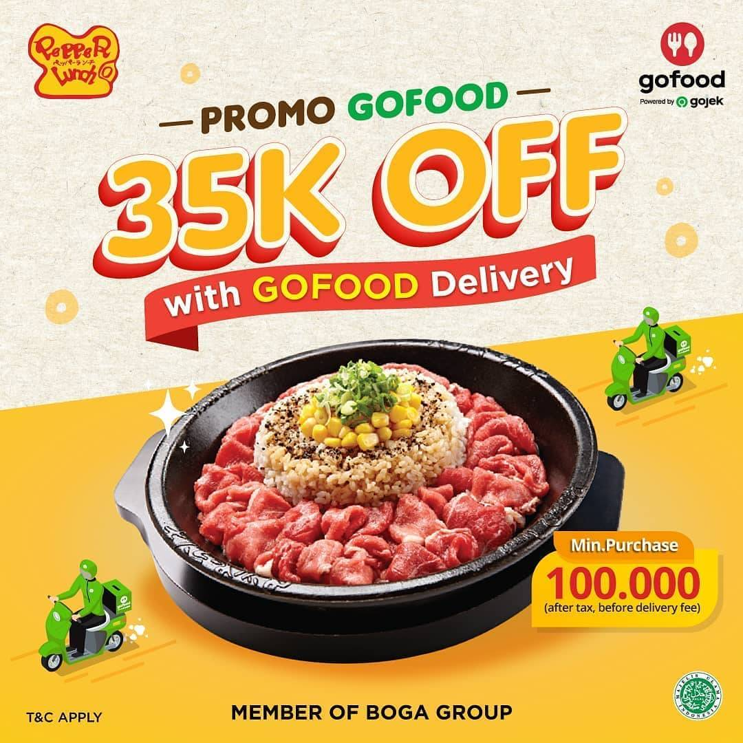 Diskon Promo Pepper Lunch Potongan Rp. 35.000 Untuk Pemesanan Menu Melalui GoFood