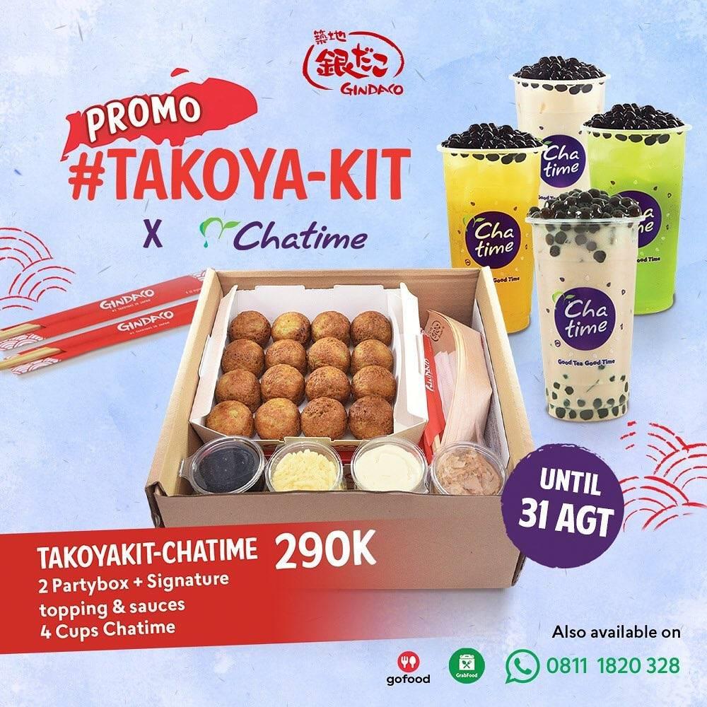 Diskon Gindaco x Chatime Promo Kit Set