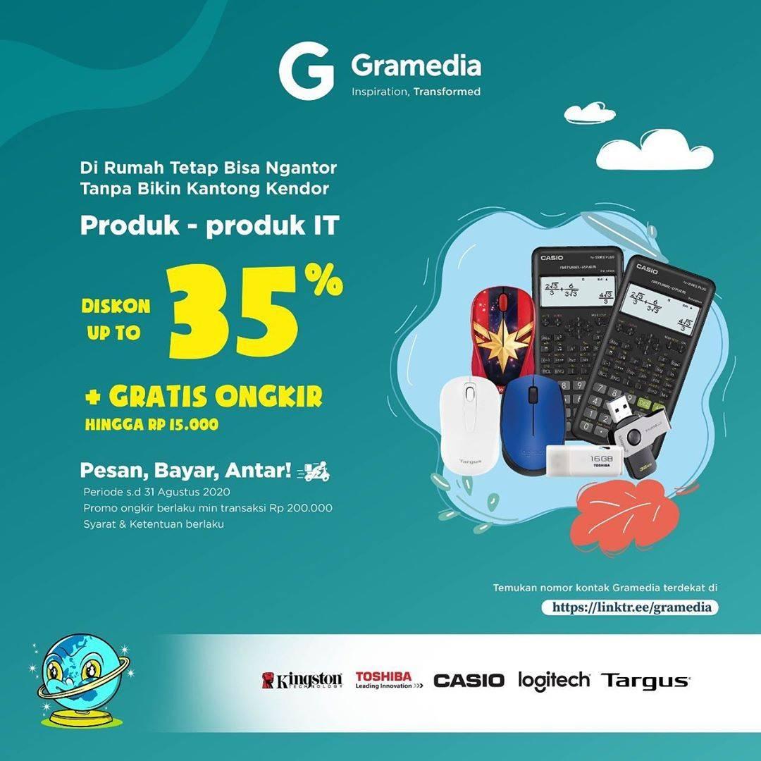 Diskon Gramedia Diskon 35% + Gratis Ongkir Hingga Rp. 15.000 Untuk Kebutuhan Kantor