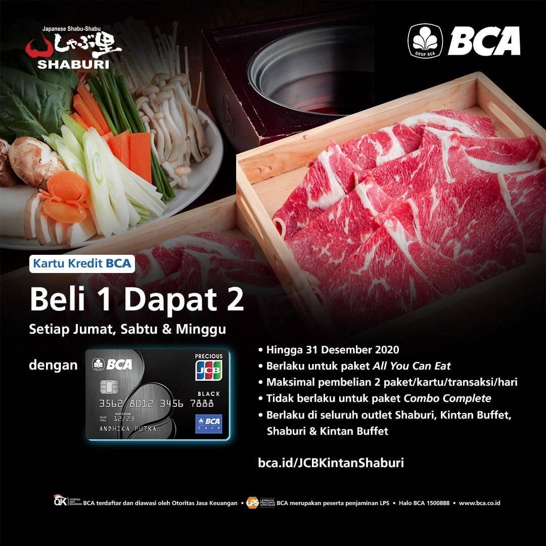Diskon Shaburi Promo Pay 1 for 2 dengan BCA JCB Black Card