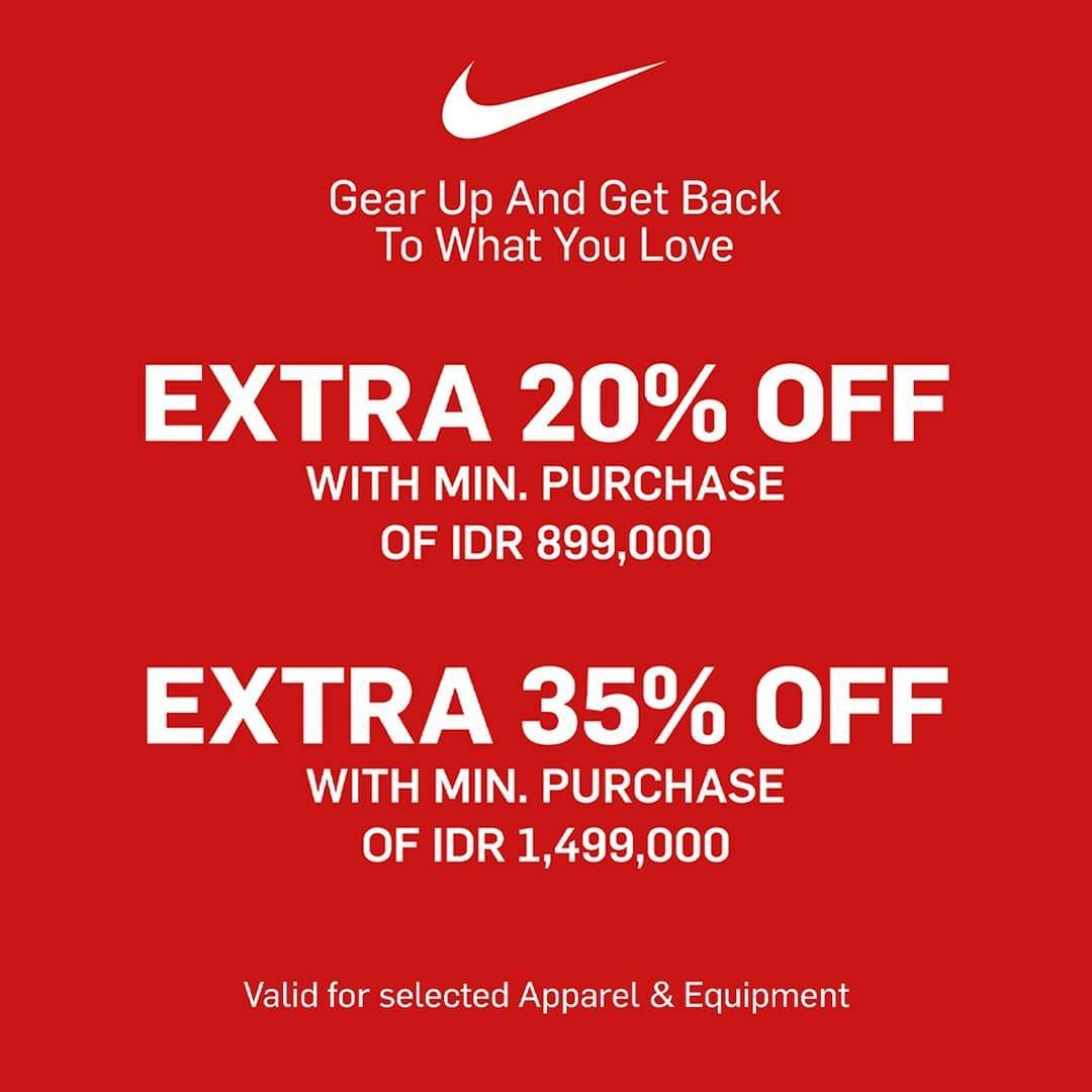 Diskon NIke Central Park Discount Up To 35% Off