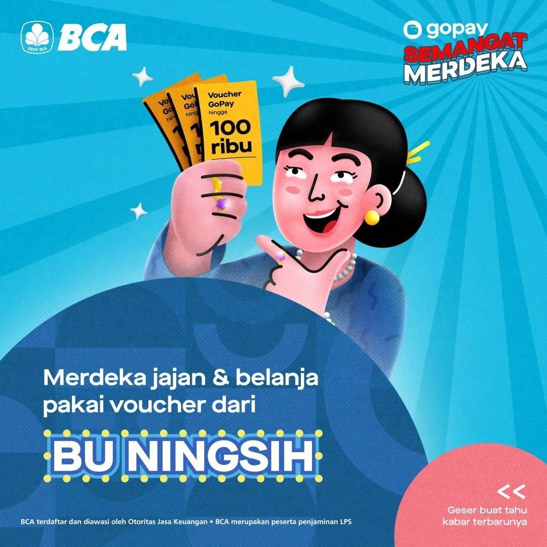 Diskon Gopay Gratis Voucher Senilai Rp. 100.000 Setiap Buka Tabungan BCA