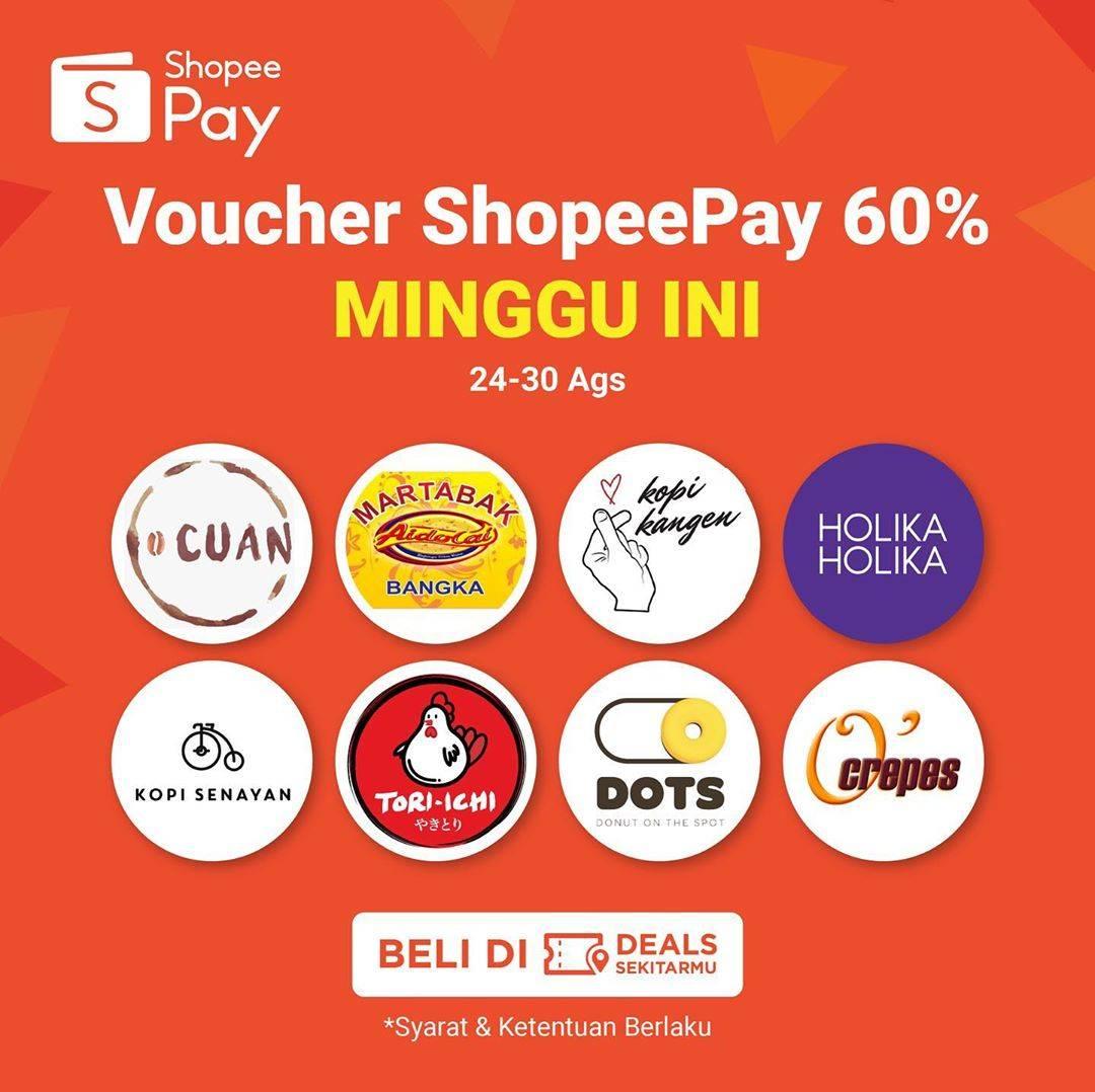 Shopeepay Voucher Diskon 60% Untuk Merchant Favorit - Disqonin