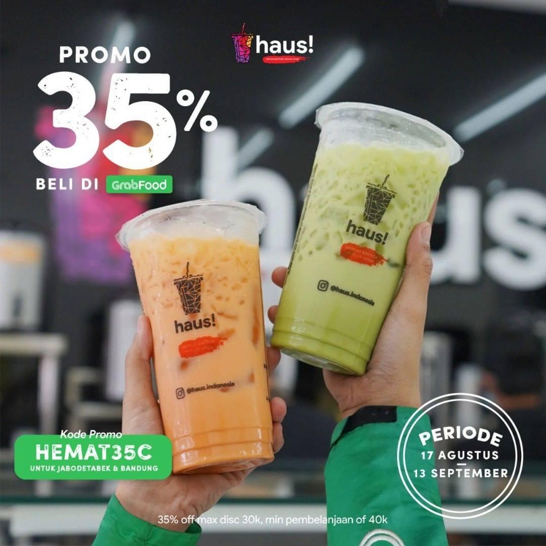 Diskon Haus! Indonesia Diskon Sampai 35% Di GrabFood