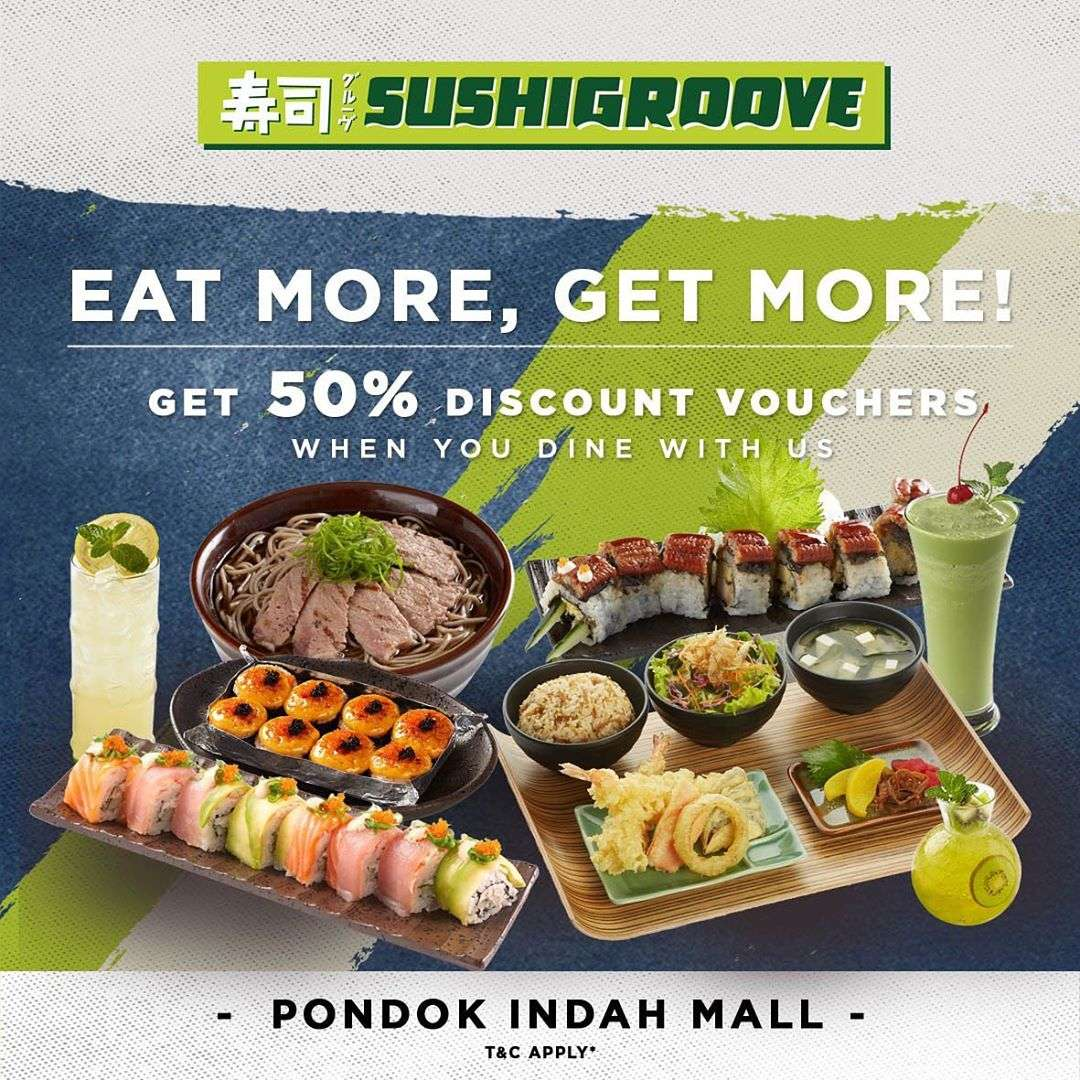 Diskon Sushi Groove Get Discount 50% Off