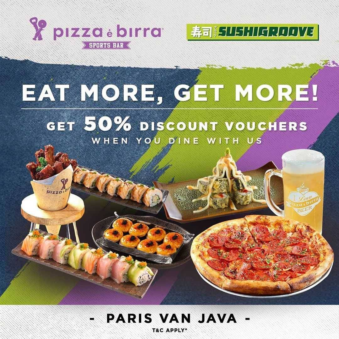 Promo diskon Sushi Groove Get Discount 50% Off
