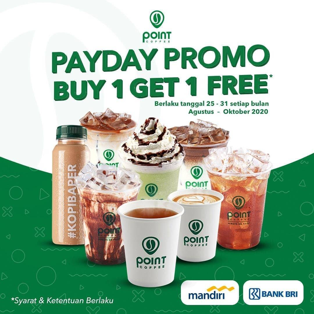 Diskon Point Coffee Promo Payday Buy 1 Get 1 Free