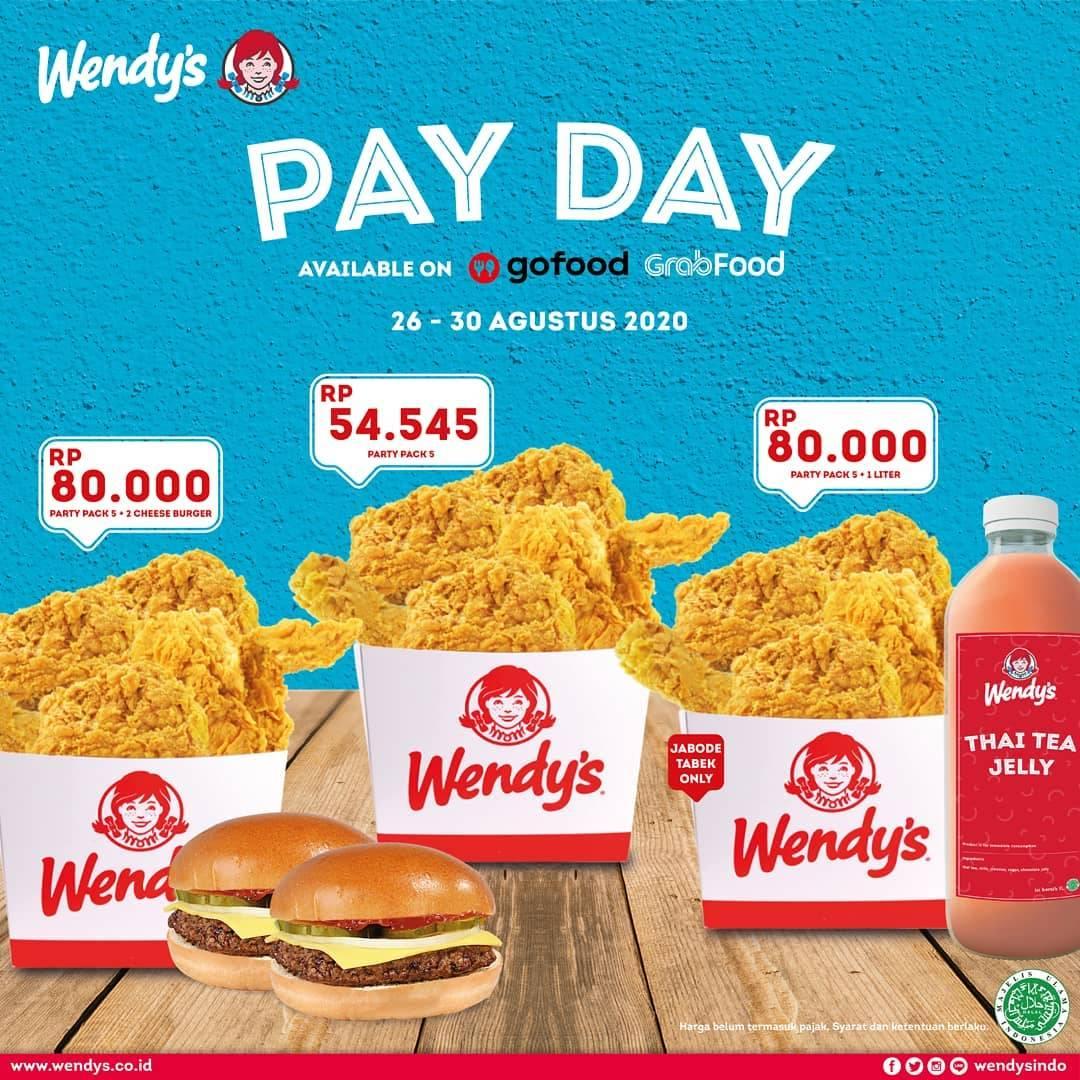 Diskon Wendys Promo Payday Tersedia di GoFood dabn GrabFood