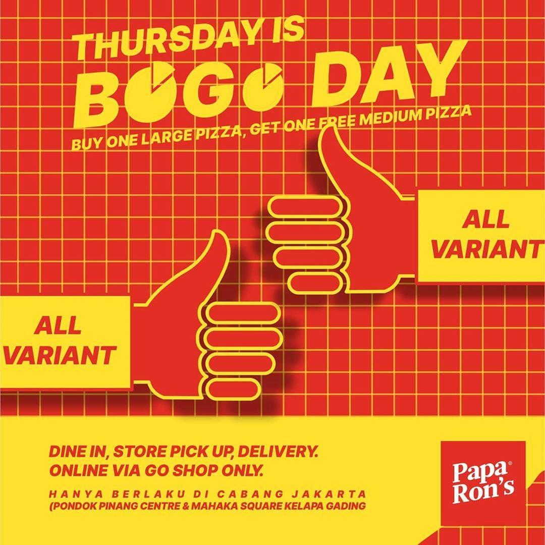 Diskon Paparons Pizza Promo Bogo Day