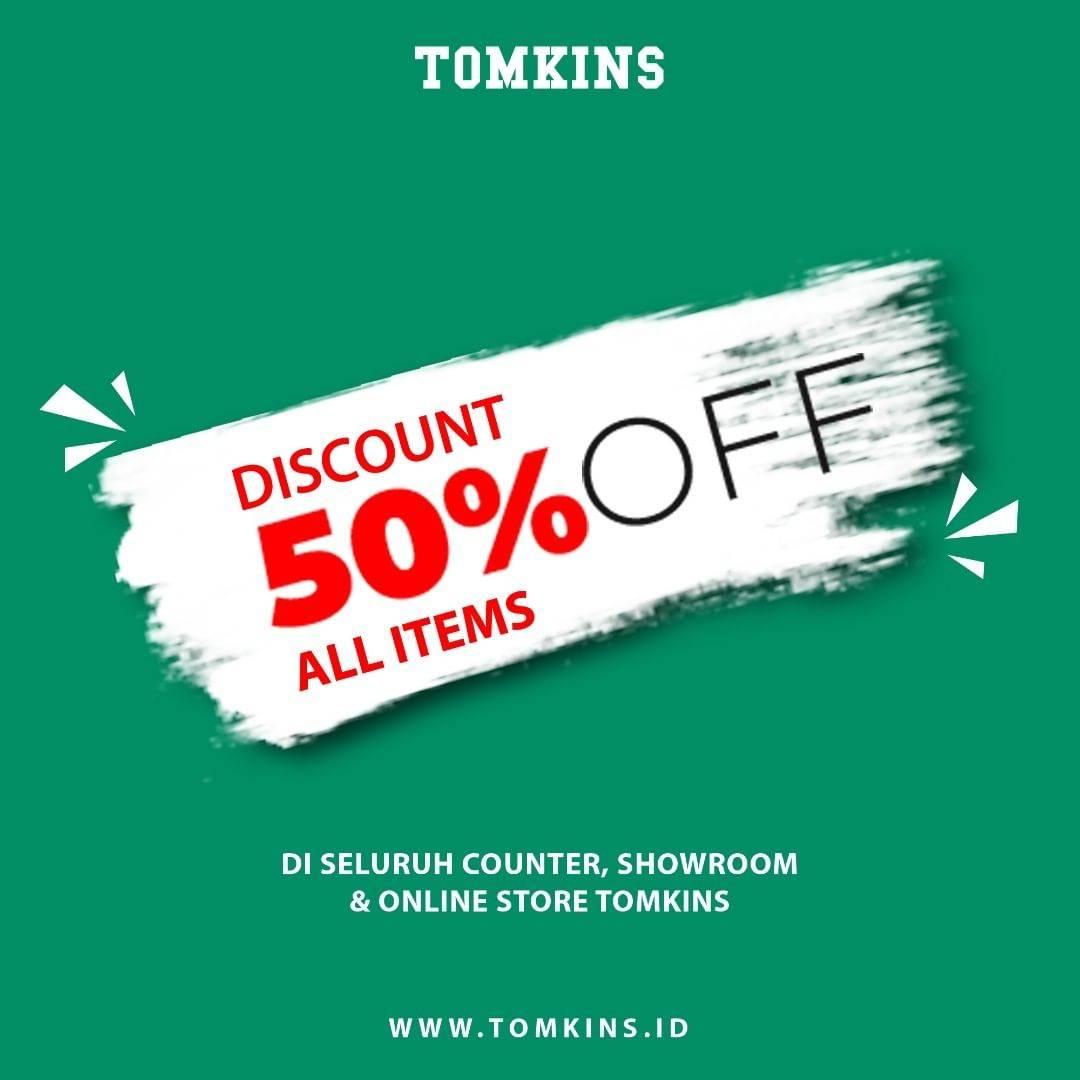 Diskon Tomkins Diskon 50% Untuk Semua Sepatu
