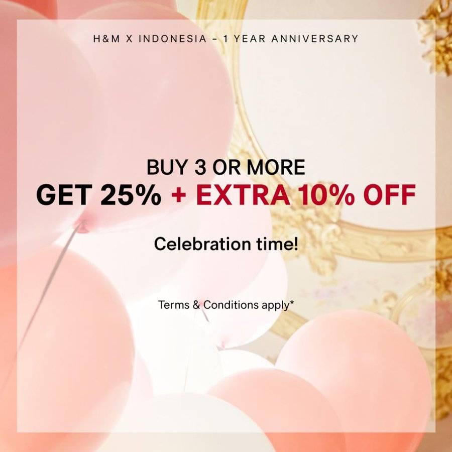 Diskon H&M Promo 1st Anniversary
