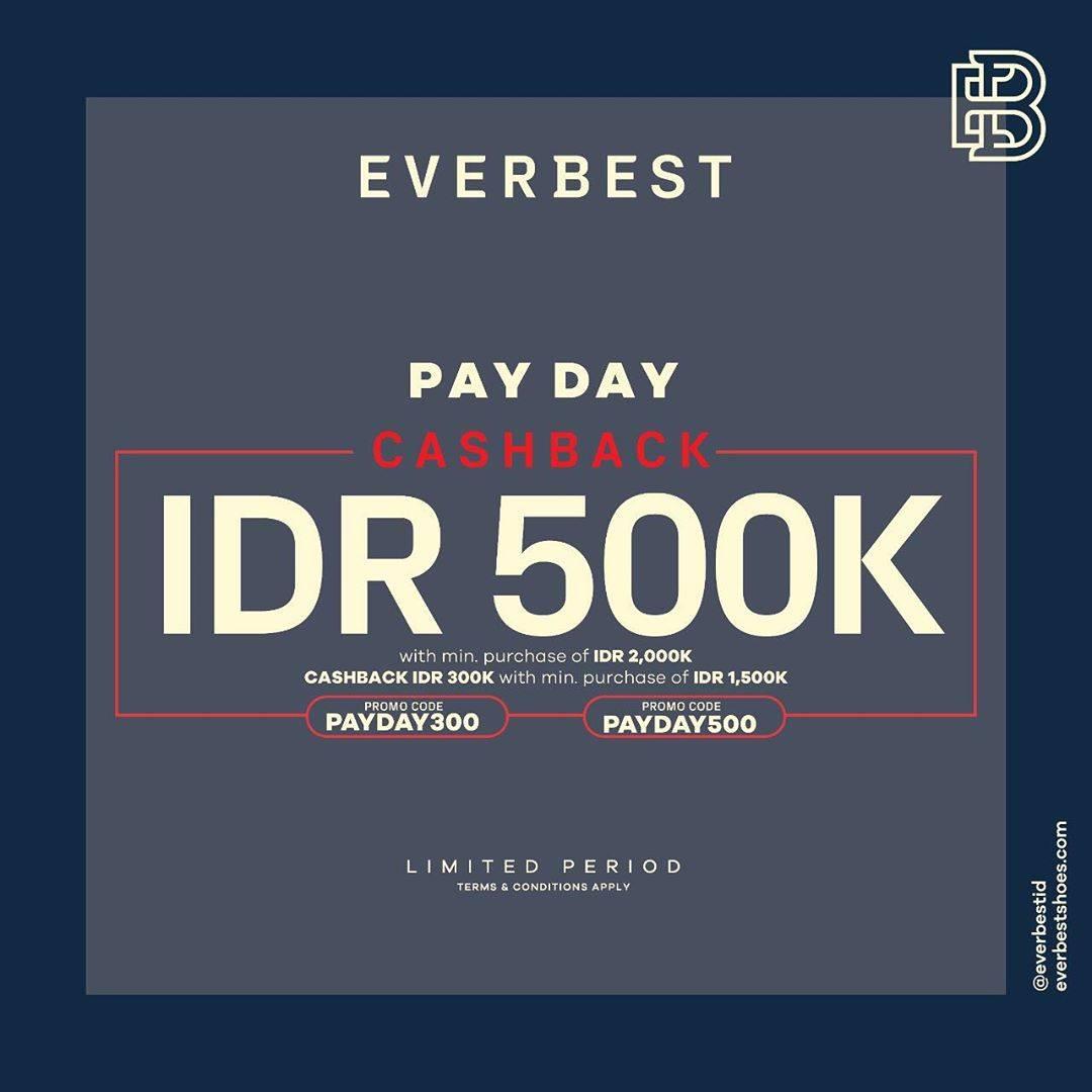 Diskon Everbest Payday Cashback IDR. 500.000