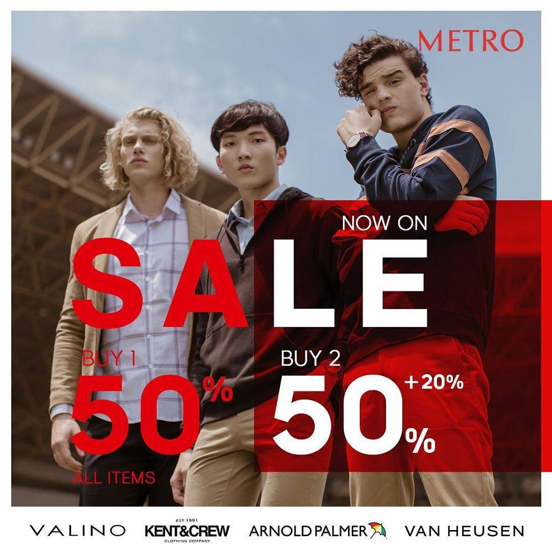 Diskon Metro Dept Store Sale Up To 50% Off On Selected Brand