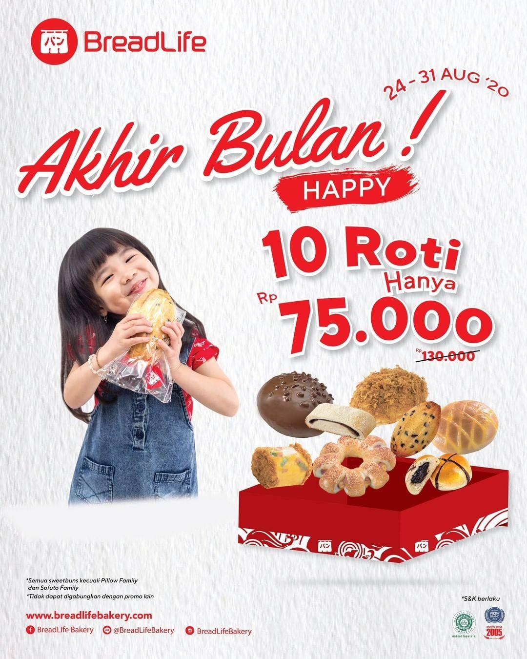 Diskon Breadlife 10 Roti Hanya Rp. 75.000