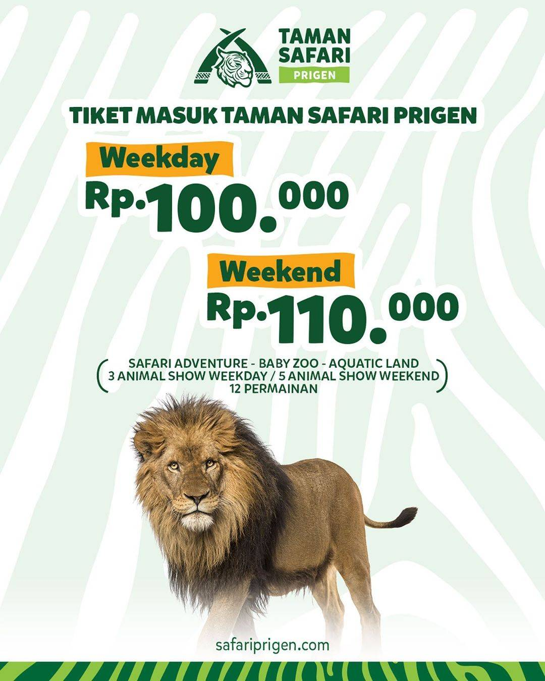 Diskon Taman Safari Harga Tiket Masuk Mulai Dari Rp. 100.000