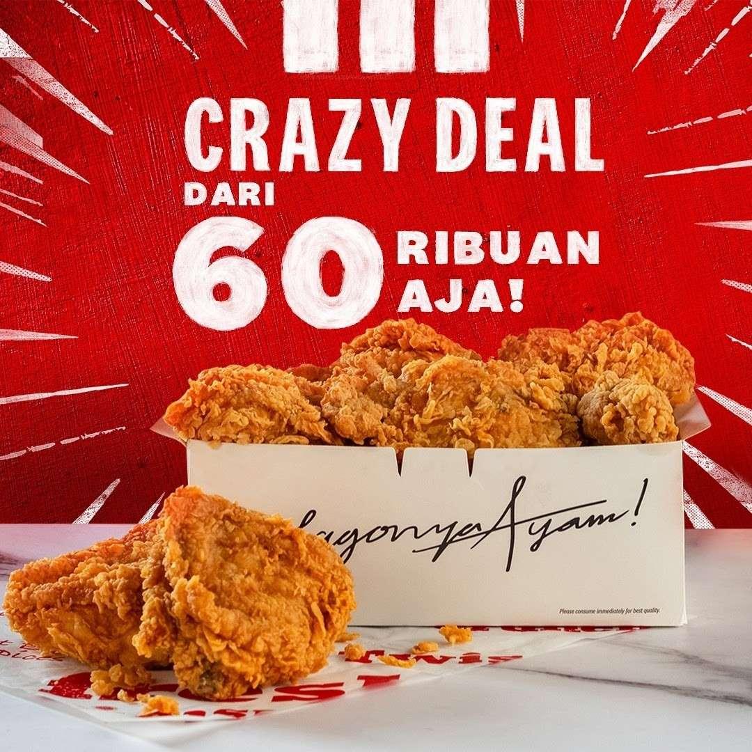 Diskon KFC Promo Crazy Deal Mulai Dari Rp. 60Ribuan