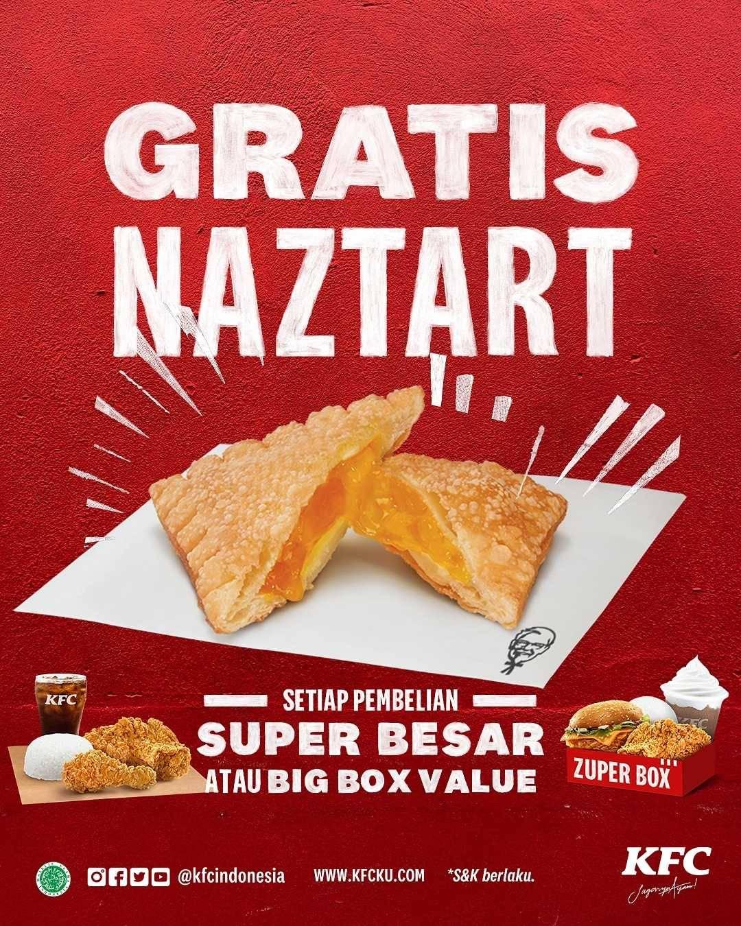 Diskon KFC Promo Beli Super Besar Atau Big Box Value Gratis Naztart
