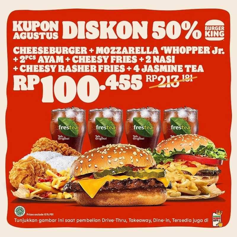 Promo diskon Burger King Promo Kupon Bulan Agustus