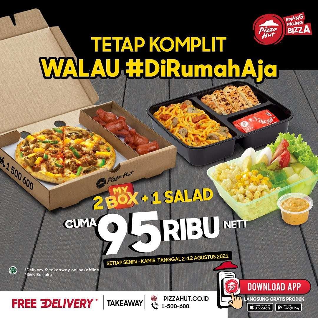 Diskon Pizza Hut Promo 2 My Box + 1 Salad Hanya Rp. 95.000