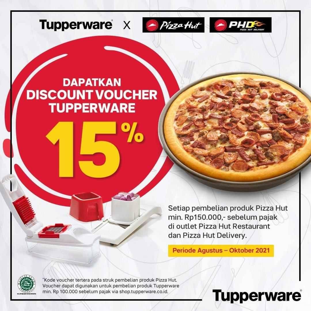 Promo diskon Tupperware x PHD x Pizza Hut Voucher Diskon 15%
