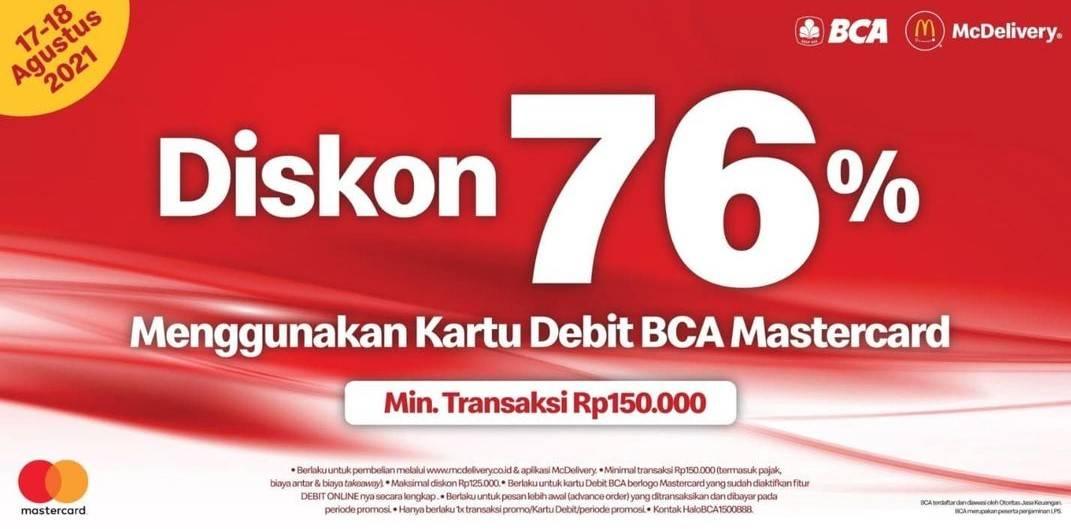 Diskon McDonalds Diskon 76% Dengan Kartu Debit BCA Berlogo Mastercard