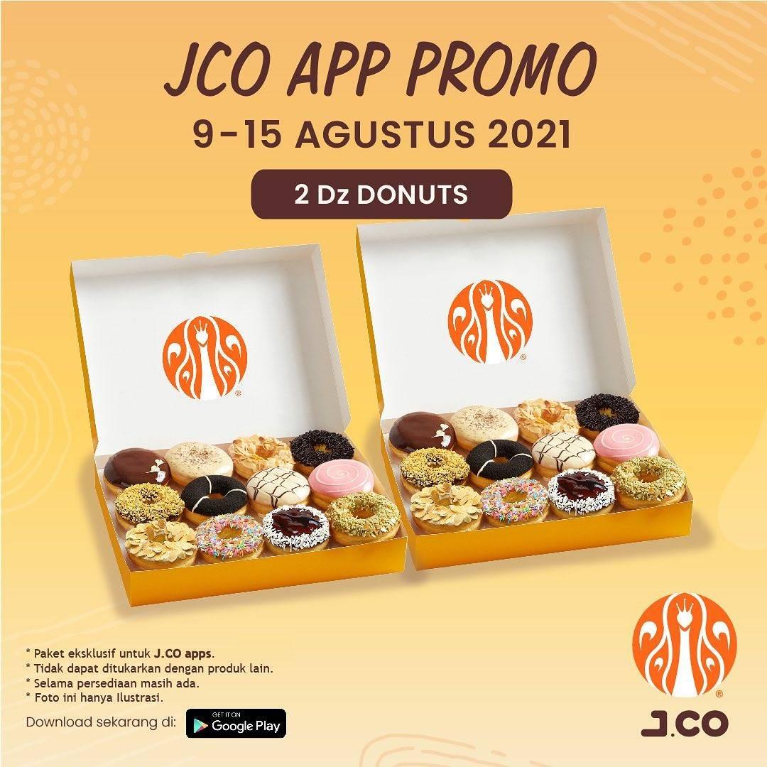 Diskon JCO App Promo 2 Dzn Donuts Hanya Rp. 105.000