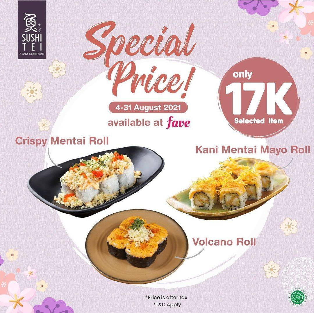 Diskon Sushi Tei Special Price Rp. 17.000 On Fave