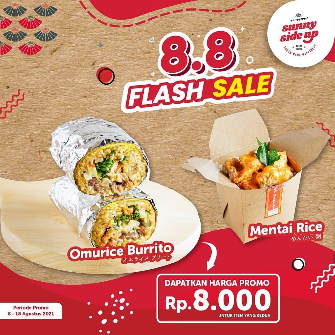 Diskon Sunny Side Up Promo 8.8 Flash Sale Dapatkan Harga Promo Hanya Rp. 8.000