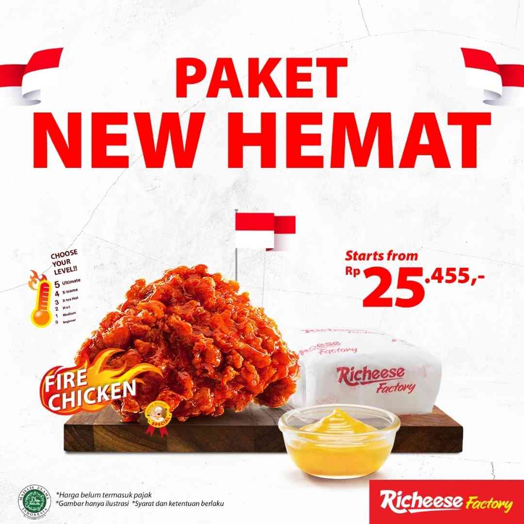 Diskon Richeese Factory Promo Paket New Hemat Start From Rp. 25.455