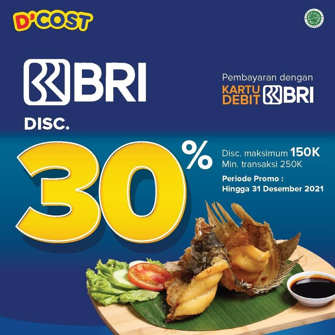 Diskon D'Cost Discount 30% Off With Kartu Debit BRI