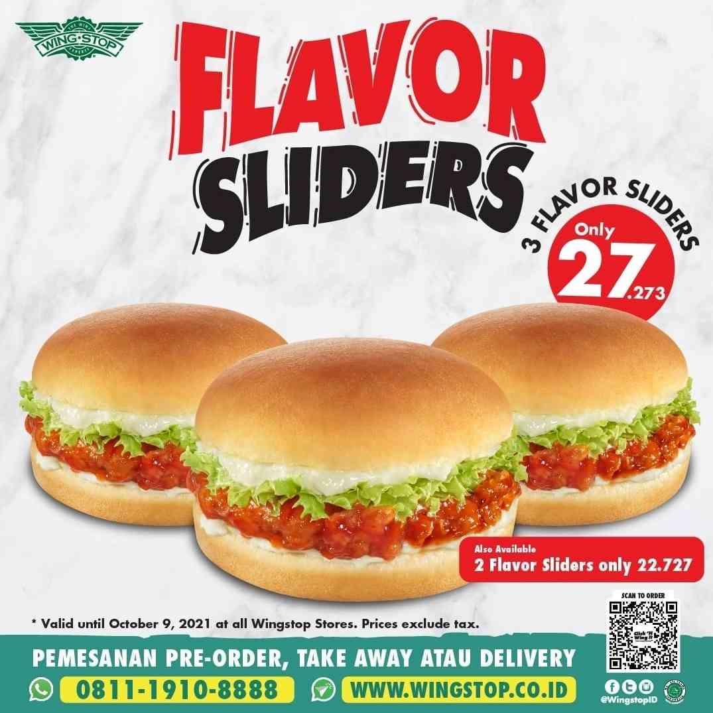 Diskon Wingstop Promo 3 Flavor Sliders Hanya Rp. 27Ribuan