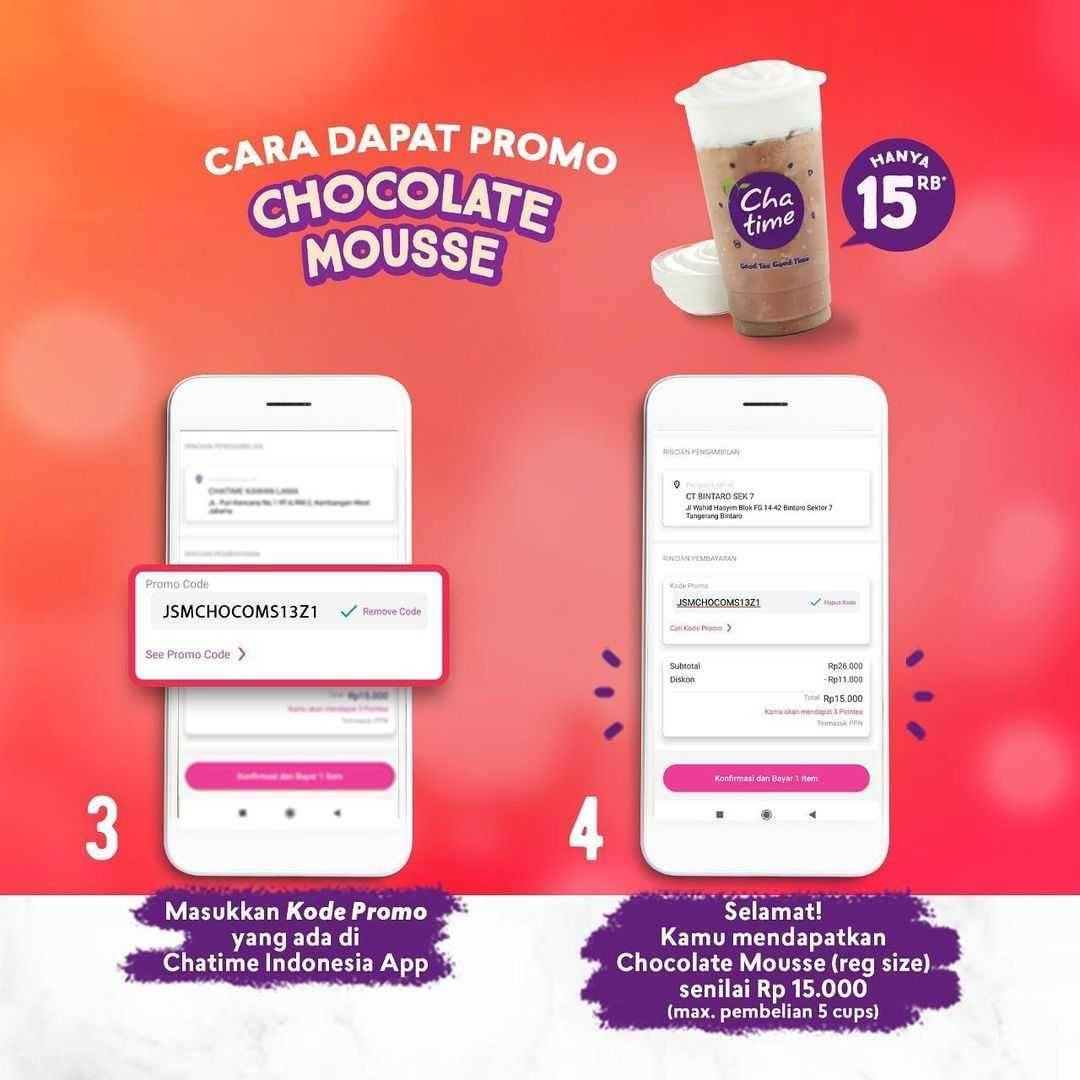 Promo diskon Chatime Promo JSM Chocolate Mousse Hanya Rp. 15.000