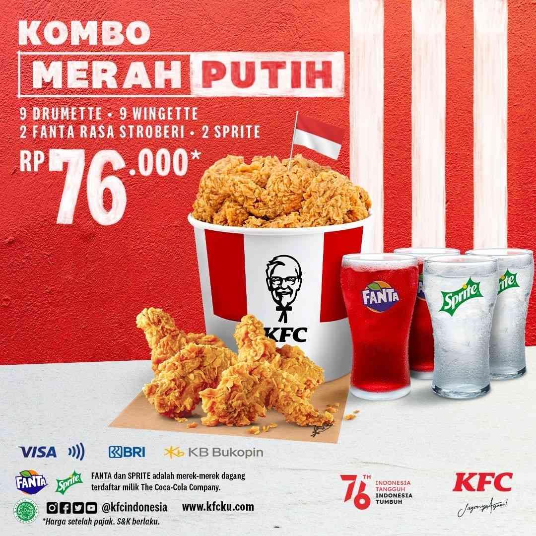Diskon KFC Promo Kombo Merah Putih Hanya Rp. 76.000