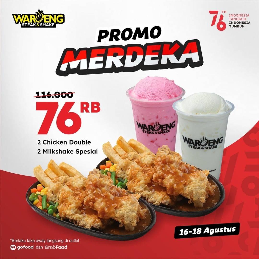 Diskon Waroeng Steak Promo Merdeka Hanya Rp. 76.000
