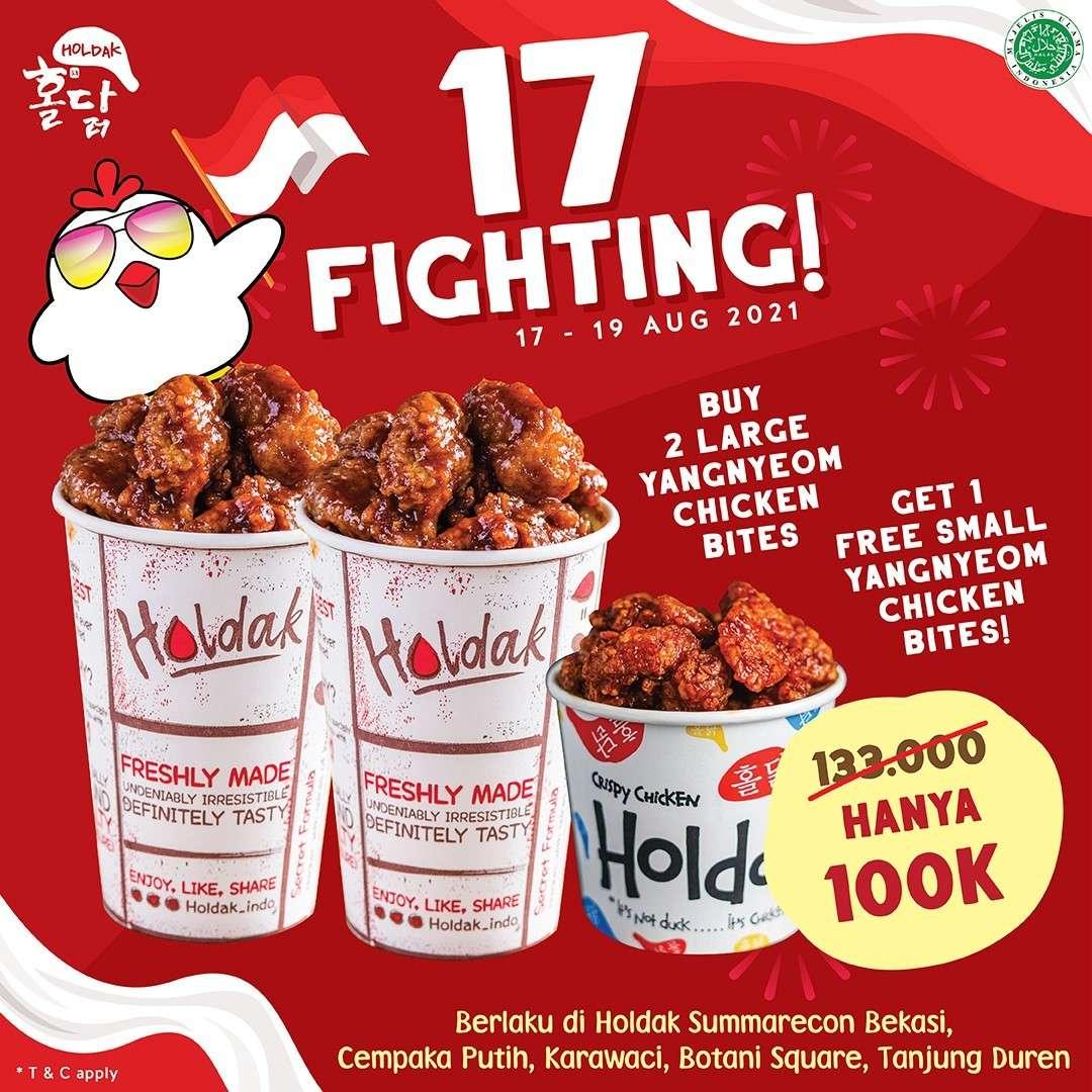 Diskon Holdak Promo 17 Fighting 3 Menu Spesial Hanya Rp. 100.000
