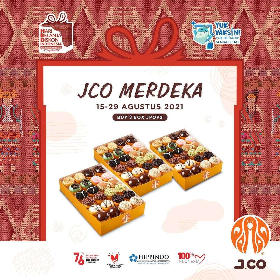 Diskon JCO Promo JCO Merdeka 3 Box Jpops Hanya Rp. 105.000