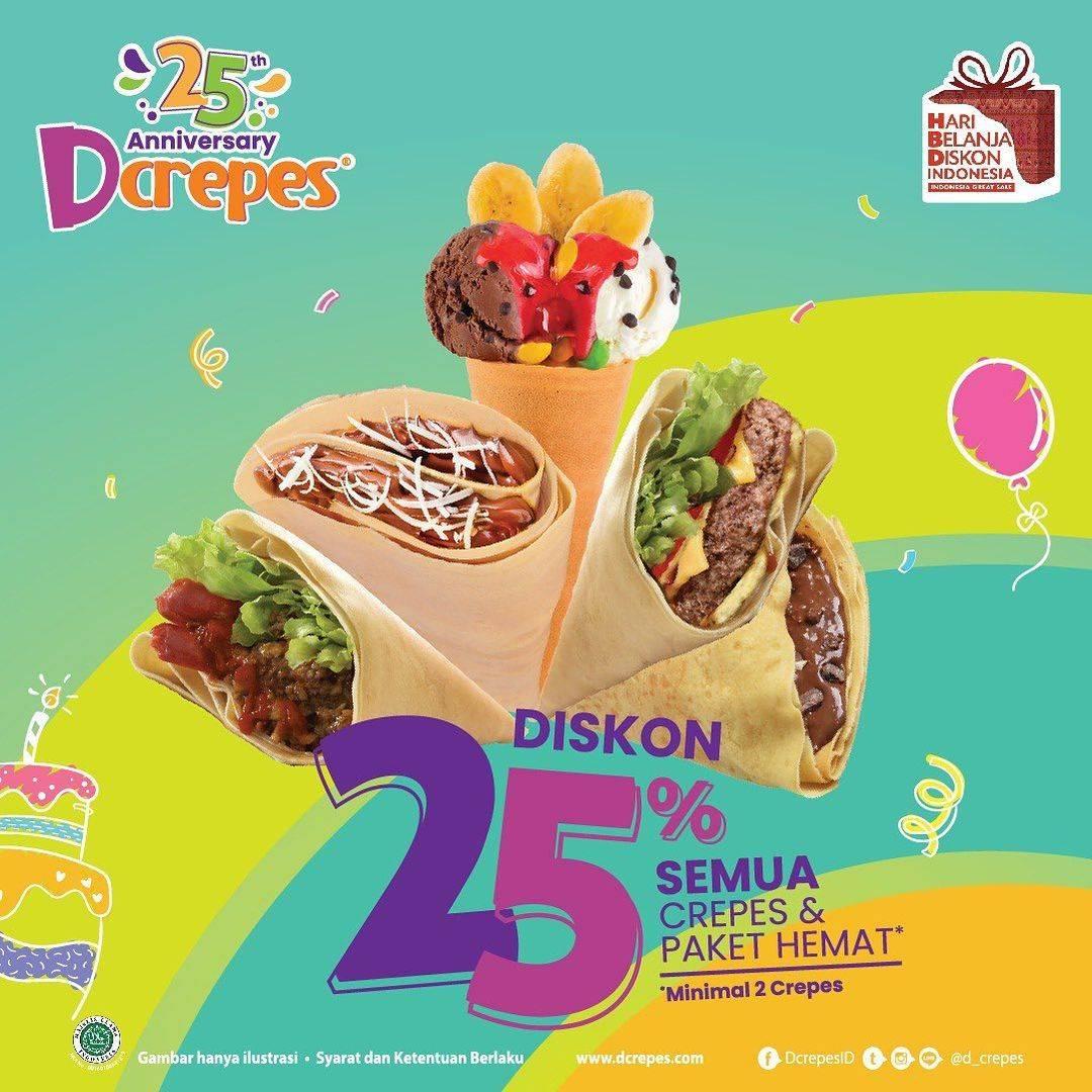 Diskon DCrepes Diskon 25% Untuk Semua Crepes