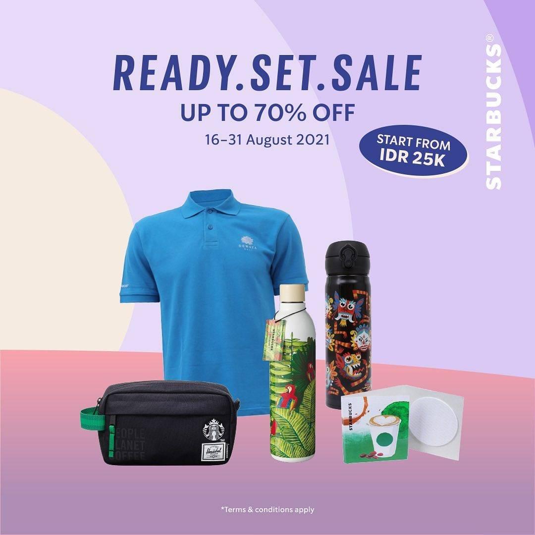 Diskon Starbucks Ready. Set. Sale Discount Up To 70% Off
