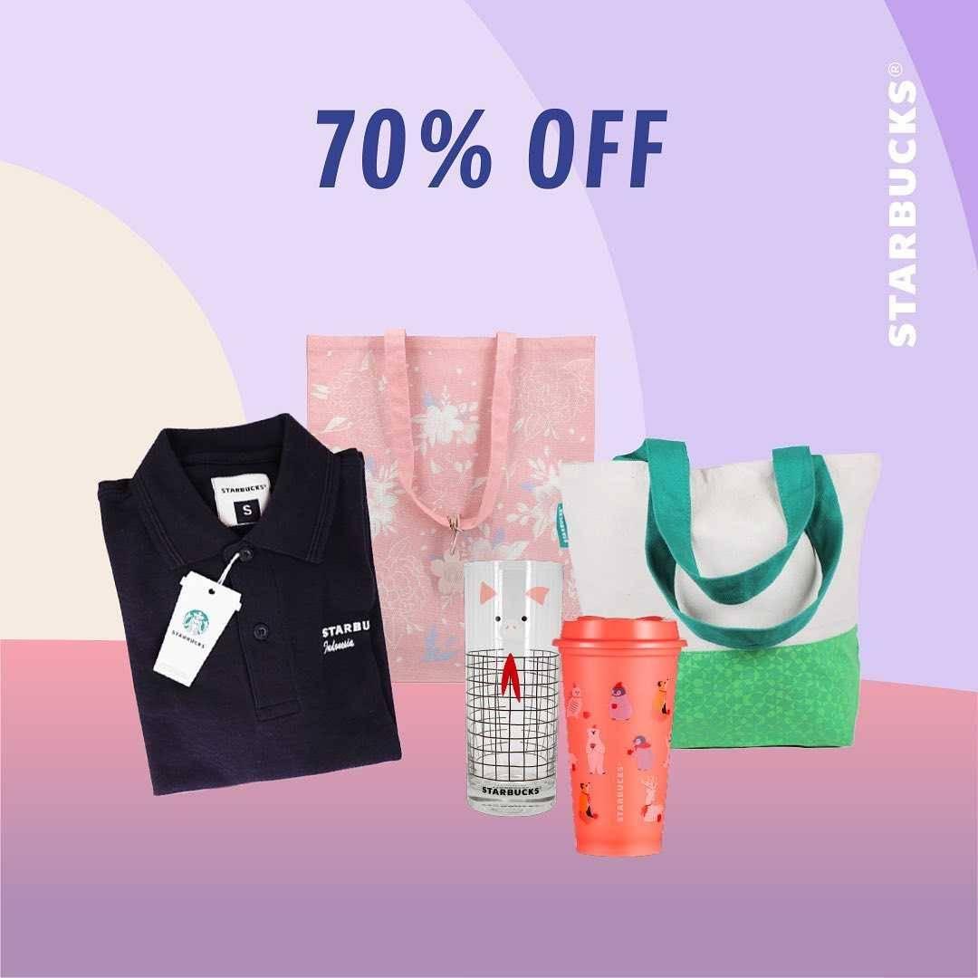 Promo diskon Starbucks Ready. Set. Sale Discount Up To 70% Off
