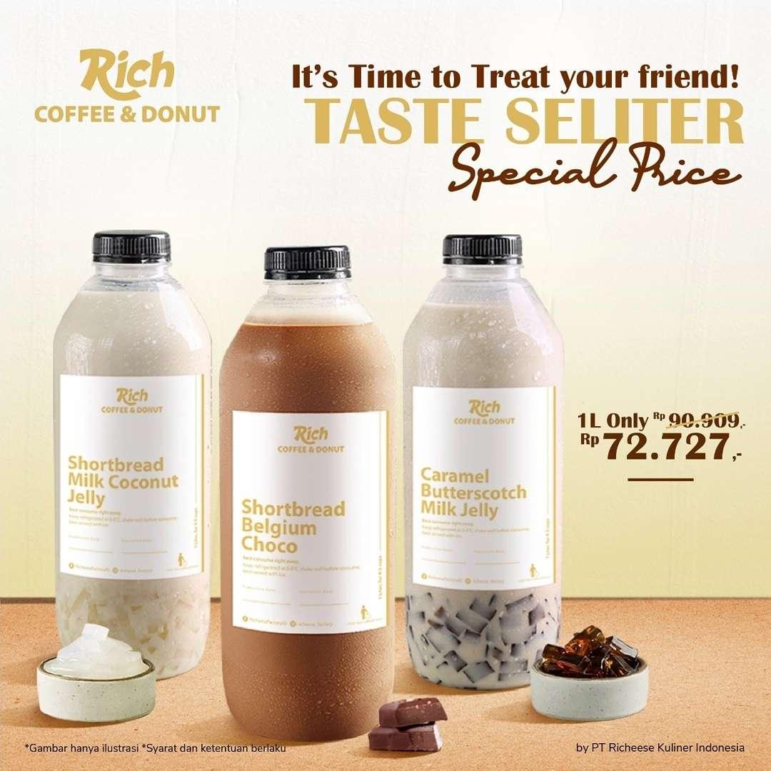 Diskon Rich Coffee & Donut Promo Taste Seliter Special Price Hanya Rp. 72Ribuan