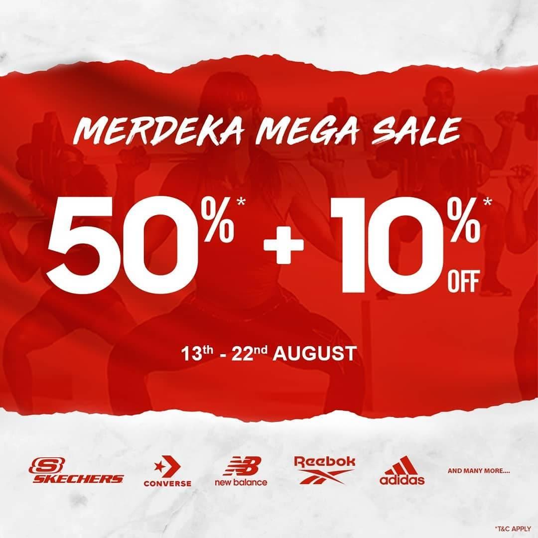 Diskon Sport Station Promo Merdeka Mega Sale Discount 50% + 10% Off