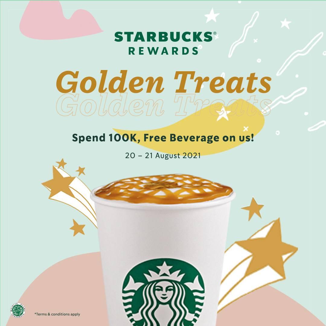 Diskon Starbucks Golden Treats Free Beverages For Beverages