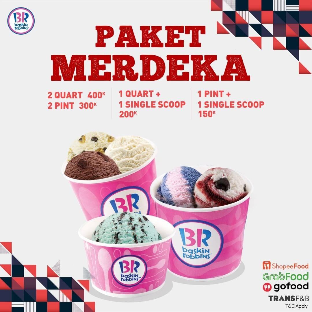 Diskon Baskin Robbins Promo Paket Merdeka Harga Mulai Dari Rp. 150.000