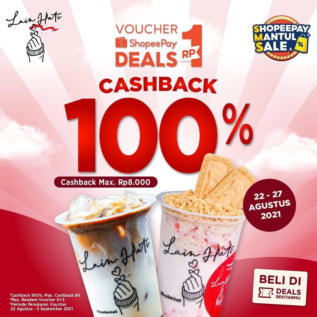 Diskon Kopi Lain Hati Cashback 100% Dengan ShopeePay