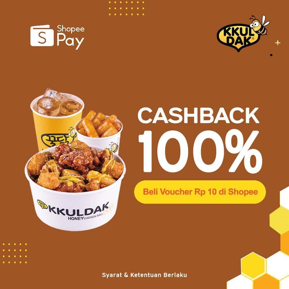 Diskon Kkuldak Cashback 100% Dengan ShopeePay