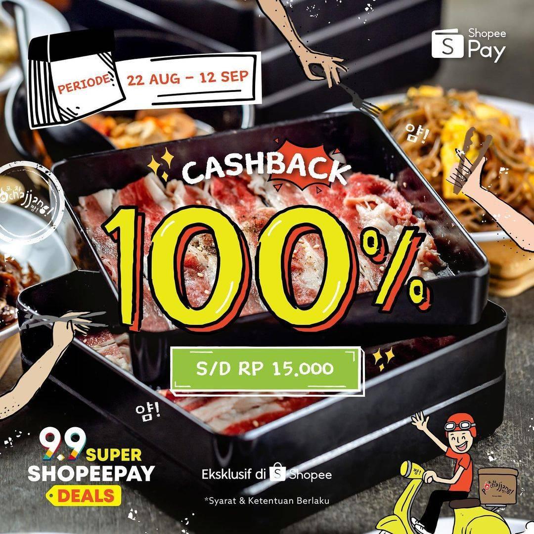 Diskon Pochajjang Cashback 100% Dengan ShopeePay