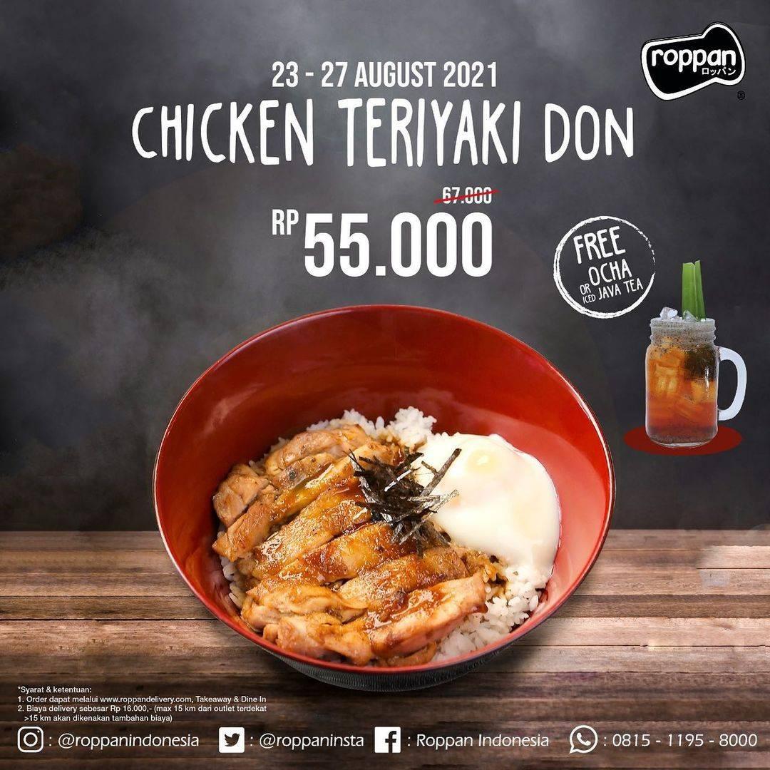 Diskon Roppan Promo Chicken Teriyaki Don Hanya Rp. 55.000